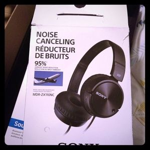 Sony Noise-Canceling Headphones MDR-ZX110NC